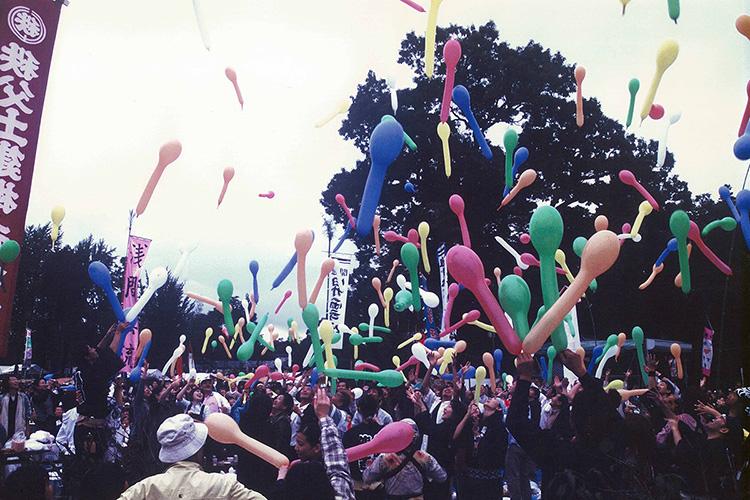 毎年10月に行われる龍勢祭への奉納